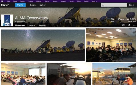 Screenshot of Flickr Page flickr.com - Flickr: almaobservatory's Photostream - captured Nov. 2, 2014
