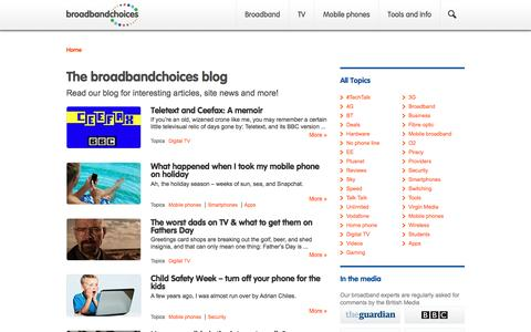 The broadbandchoices blog