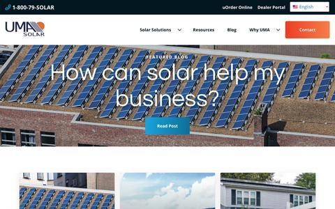 Screenshot of Blog umasolar.com - UMA Solar News | Solar Power Solutions | Solar Energy Products - captured Nov. 5, 2018