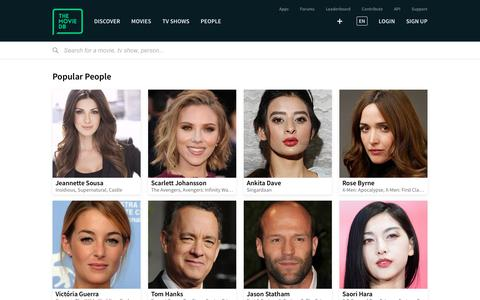 Screenshot of Team Page themoviedb.org - Popular People — The Movie Database (TMDb) - captured June 28, 2019