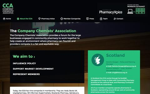 Screenshot of About Page thecca.org.uk - The Company Chemists' Association - CCA - Company Chemists' Association - captured Jan. 30, 2016