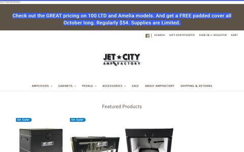 Screenshot of Home Page ampfactory.com - Quality Guitar Amplification at Great Values - captured Oct. 18, 2018