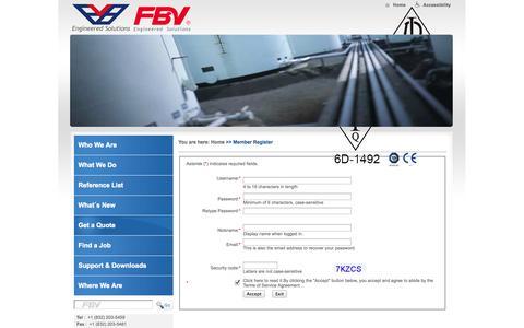 Screenshot of Signup Page fbvalve.com - Member Register ? FBV Valves - captured Oct. 5, 2014