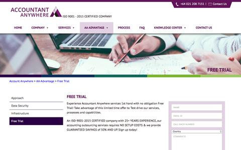 Screenshot of Trial Page accountant-anywhere.com - Free Trial - Account Anywhere - captured May 6, 2017